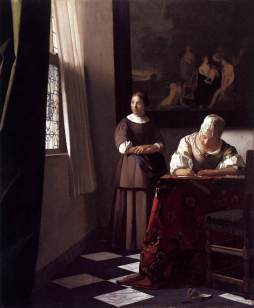Lady Writing a Letter with her Maid, 1670. National Gallery of Ireland (NGI.4535).