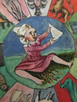MS Ferguson 6 (Woman bleeding at the centre of a zodiac)